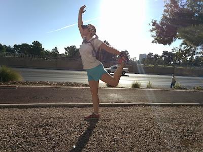 Dancer yoga pose