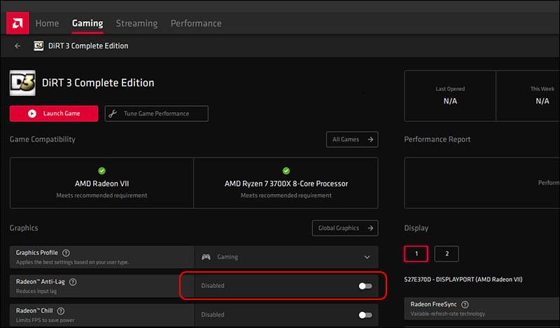 كيفية تفعيل خاصية Anti-Lag على بطاقات AMD