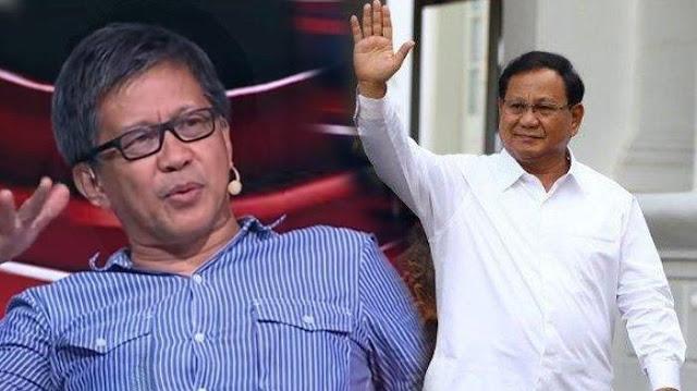 Prabowo Diprediksi Jadi Menteri Pertama yang Direshuffle, Rocky Gerung Sebut Alasannya