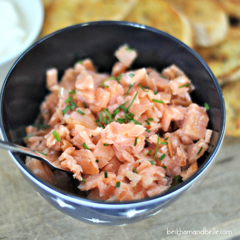 Smoked Salmon 'Ceviche' Crostini