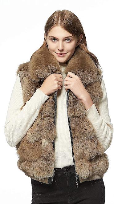 Good Quality Women's Genuine Real Fur Vest