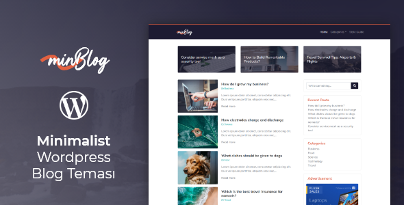 WordPress Blog Teması-MinBlog