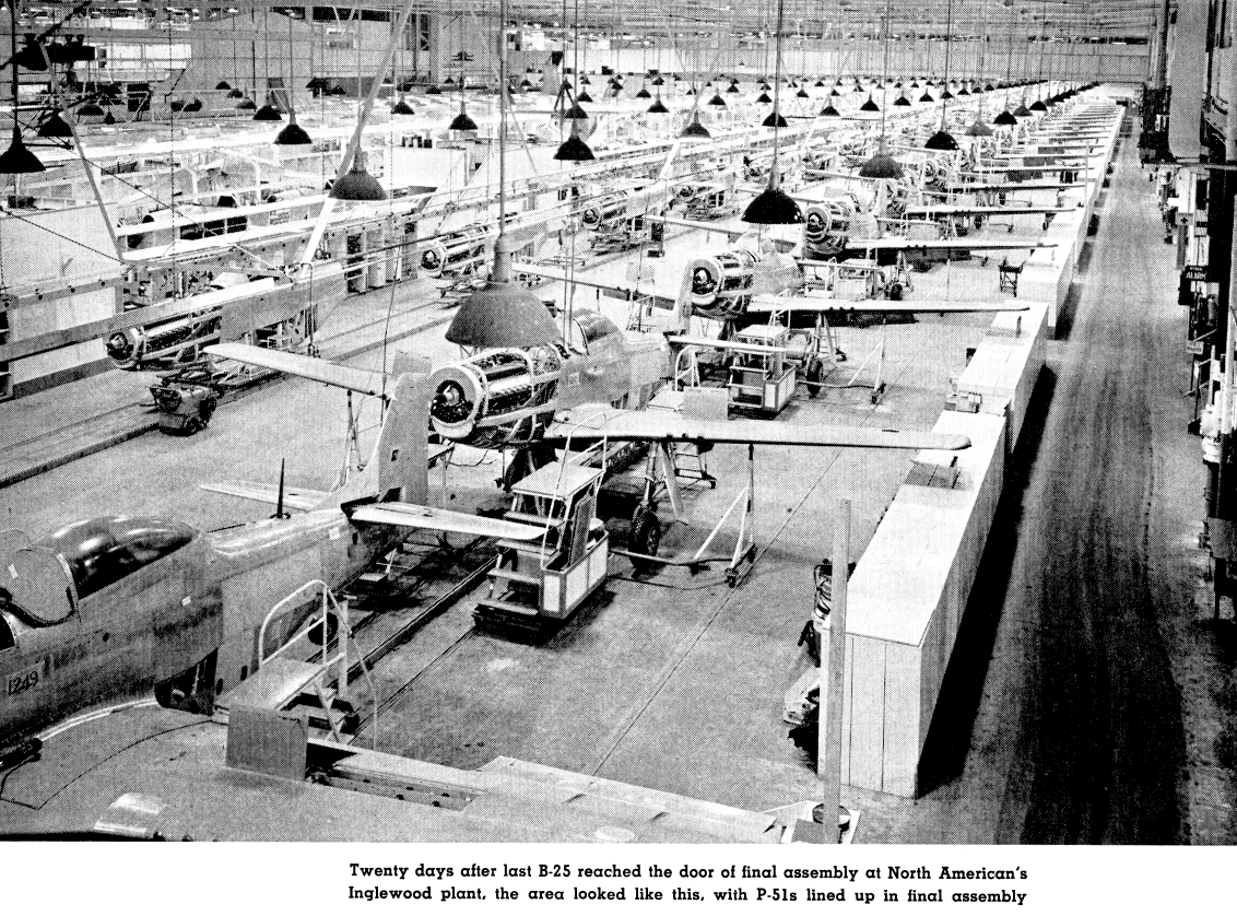 Exo Cruiser Sm Service Module Part 10 Apollo Control Systems 9200i International Truck Wiring Diagram North Americans Inglewood Plant With P 51s Lined Up In Final Assembly