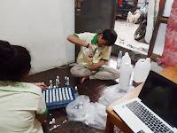 Pemuda Katolik Kab. Bogor Bagi-bagi Hand Sanitizer Gratis