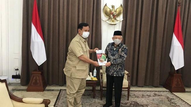 Akhirnya, Untuk Pertama Kalinya Sejak Dilantik, Pak Prabowo Temui Wapres Ma'ruf Amin