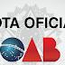 OAB emite nota oficial desmentindo falsa notícia sobre apoio a guerra civil
