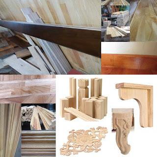 Phào chỉ len tường gỗ cao su