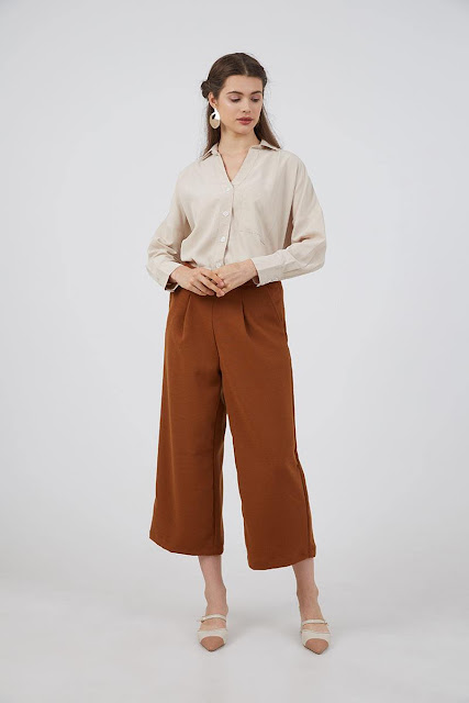 Honor Cullote Pants Brown