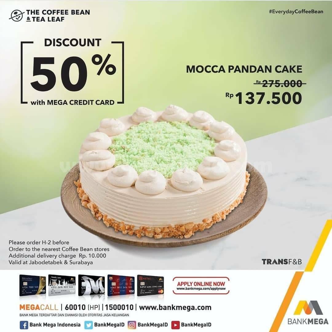 The Coffee Bean Promo Mocca Pandan Cake Diskon 50% dengan Kartu Kredit Bank MEGA