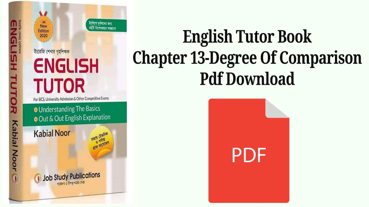 English Tutor -Chapter 13-Degree Of Comparison Pdf Download
