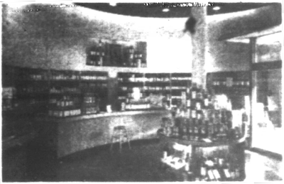Rotunda of the S.S. Pierce store as seen in a 1949 advertisement in the Brookline Chronicle