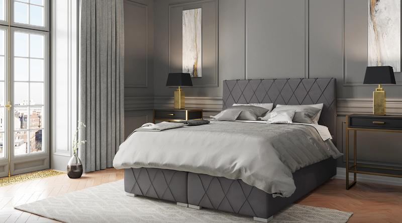Dormitorio con cama continental clásico