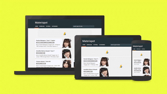 Materispot Simple Material Design Blogger Temaplate
