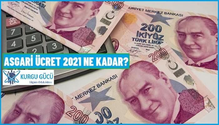 Asgari Ücret 2021 Ne Kadar Olacak? Asgari Ücret 2021 Belli Oldu Mu?