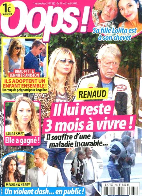 oops, magazine oops, presse people, décès renaud, mort de renaud, renaud maladie, presse poubelle, lolita renaud, renaud oops, game designer, france 3 macron