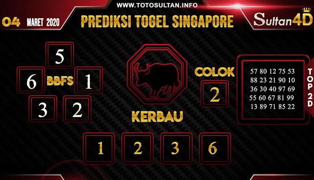 PREDIKSI TOGEL SINGAPORE SULTAN4D 04 APRIL 2020