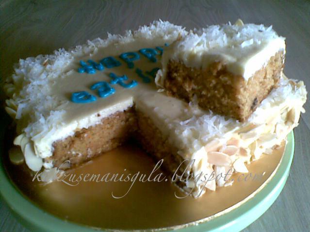 Semanis Gula Carrot Cakes Walnut Versi 4