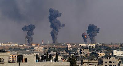 Israel bombardeou hoje alvos do Hamas