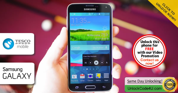 Factory Unlock Code Samsung Galaxy S5 from Tesco
