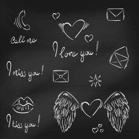 dibujar besos tiza pizarra borrar sentimiento
