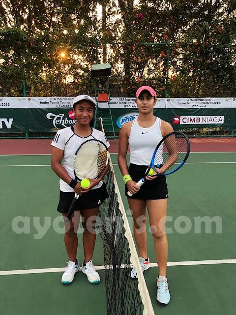 Janice, Jessica dan Felicia Halim Melaju ke Babak II JITA International Junior Tennis Tournament 2019