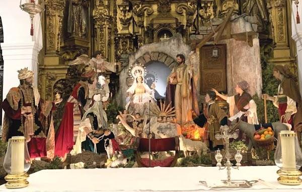 Belén monumental de diferentes hermandades en Sta. Mª Magdalena