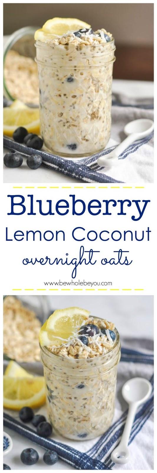 Blueberry Lemon Coconut Overnight Oats