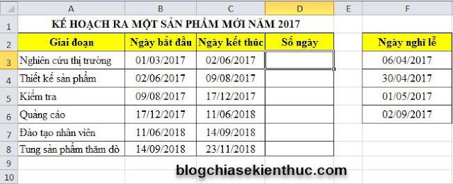 Công thức và cách thực hiện phép tính với ngày, tháng trong Excel