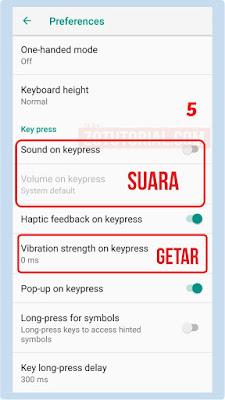 Mematikan Getaran dan Bunyi Keyboard Xiaomi Semua Versi Redmi Note & Redmi