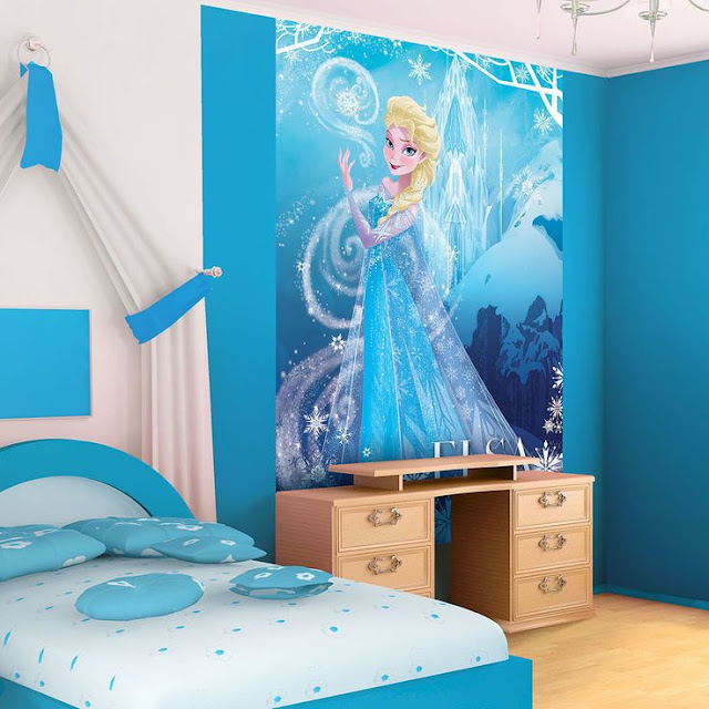 Disney tapet frost prinsessa fototapet frozen princess tjejtapet barntapet flickrum