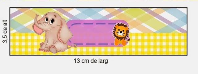 Etiquetas de La Selva Bebés para imprimir gratis.