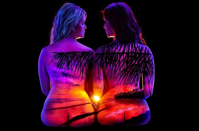 Top 50 Best Landscape Body Art Blacklight up Images