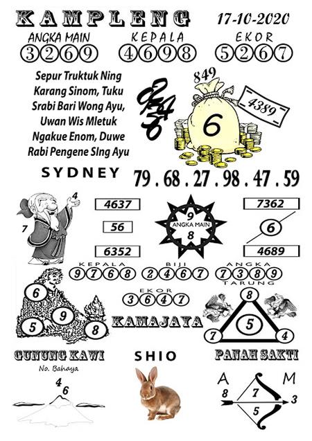 Kampleng SDY Sydney Sabtu 17 Oktober 2020