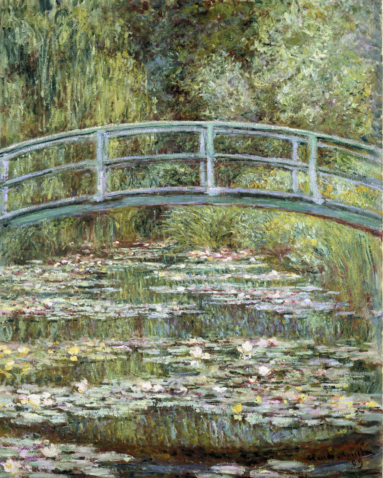 One in a series of 18 paintings that Claude Monet completed of the Japanese Bridge in Giverny. Photo: Wikimedia.org.