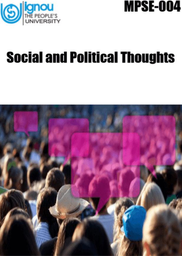 IGNOU-Social-and-Political-Thoughts-For-UPSC-Exam-PDF-Book
