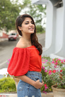 Rhea Chakraborty in Red Crop Top and Denim Shorts Spicy Pics ~  Exclusive 123.JPG