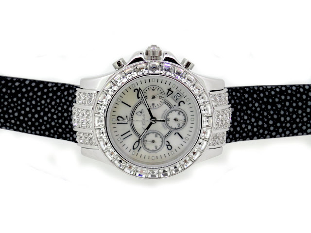 Diamond Watch with Real Stingray Strap