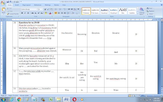 Contoh Soal Ujian Madrasah (UM) Bahasa Inggris MTs