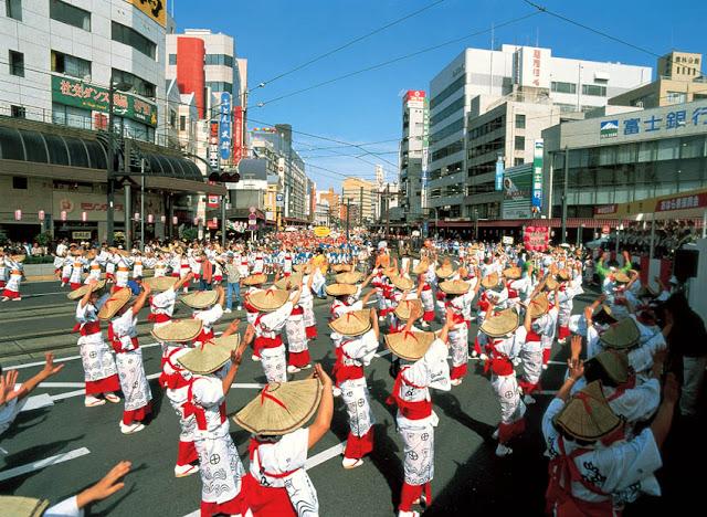 Ohara-Matsuri Festival (parade & singing) in Kagoshima