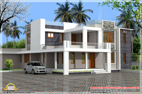 Modern Contemporary Kerala Villa Kerala Home Design And