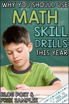Why you should use math skill drills this year