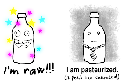 The difference between raw and pasteurized goat milk is huge.