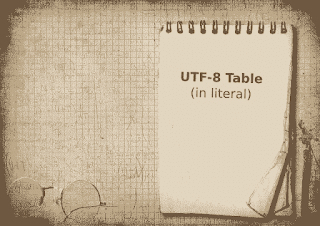 UTF-8 Table For Arduino Serial Monitor and to Other