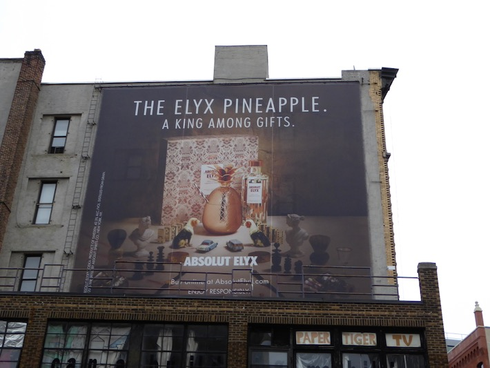 Pineapple king among gifts Absolut Elyx Vodka billboard