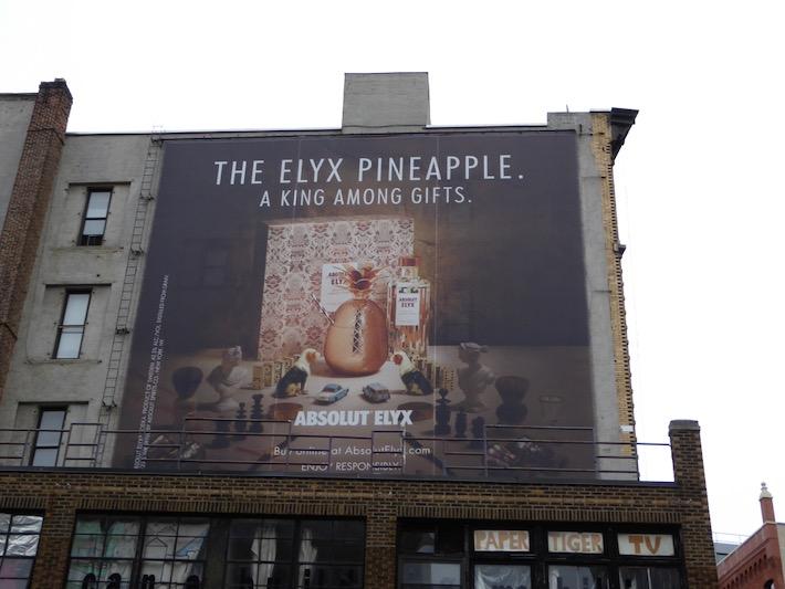 Pineapple king among gifts Absolut Elyx Vodka billboard