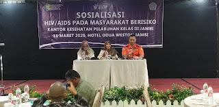 EGM Angkasa Pura II Jambi Secara Resmi Membuka Sosialisasi HIV / AIDS Pada Masyarakst Berisiko.