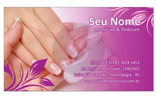 M1210 cartoes de visita manicure pedicure - Cartões de Visita para Manicure e Pedicure