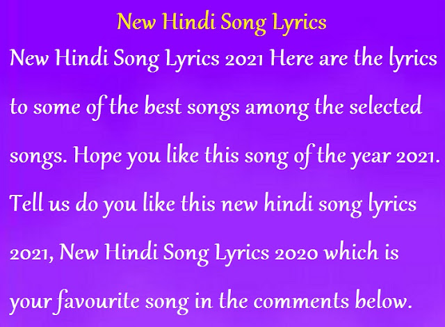 New Hindi Song Lyrics 2021 Don't forget to leave your response in the comment section ♫tracklist♫ 00:00 ► kabir singh: lyricsdaw