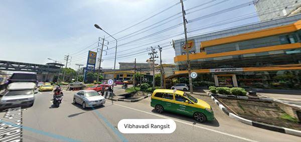 ขายที่ดินแปลงสวย ติดถนนใหญ่ วิภาวดี รังสิต เป็นโชว์รูมรถและปั๊มน้ำมัน