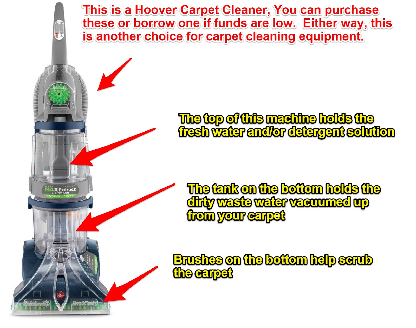 The mother of all diy carpet cleaning guides or how to clean carpet hoover max extract carpet cleaning machine at this amazon link solutioingenieria Gallery
